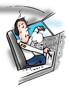 fatigued pilot in cockpit