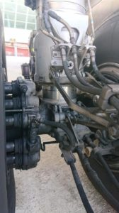Landing gear with oil leakage