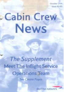 Cover page BA Cabin Crew news, October 2003